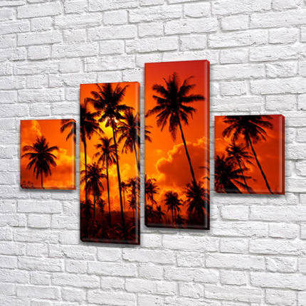 Картины на холсте модульные купить в интернет магазине картин, 65x80 см, (25x18-2/55х18-2), фото 2