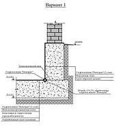 Отсечение капиллярного подсоса между бетонным фундаментом и стеной