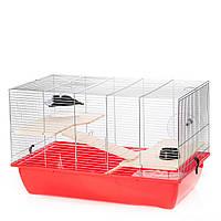 Клетка из цинка для хомяков и мелких грызунов CHARLIE 2 ZINC + WOOD InterZoo G274 (700*400*440 мм)