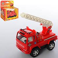 Машинка KS 3507 W (24шт) металл, инер-я,пожарная,8см,резин.колеса,открыв.двери, в кор-ке,11,5-11-5см
