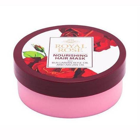 Восстанавливающая маска для волос с маслом розы и аргана Royal Rose от BioFresh 200 мл, фото 2
