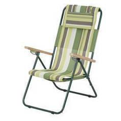 Кресло Шезлонг Ясень d20 mm VT2110016 Зеленая полоска
