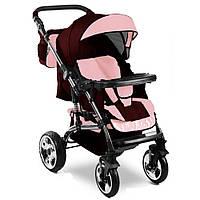 Прогулочная коляска VIKING Trans-Baby  11/46 (Викинг Транс Бейби 11/46), бордо+с.розовый