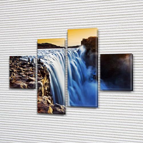 Купити картину модульную на Холсте син., 65x80 см, (25x18-2/55х18-2)