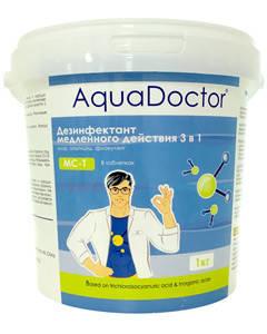Таблетки для бассейна 3 в 1 AquaDoctor MC-T 1 кг (200 г), фото 2