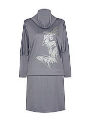 Платье летучая мышь трикотажное Бабочки