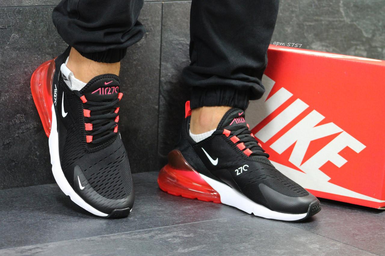 Летние мужские кроссовки Nike Air Max 270,Black/Red 40,45р