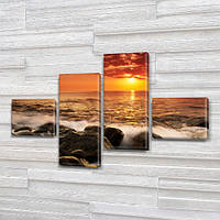 Интернет магазин картин купить модульную картину на Холсте син., 60x85 см, (18x20-2/50х18-2)