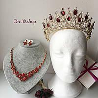 """Шикарный набор """"Каррмен 2"""" для невесты ( диадема, ожерелье, серьги)., фото 1"""