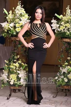 Стильное вечернее трикотажное платье, фото 2