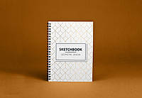 Sketchbook Geometric Скетчбук Геометрия белые листы на пружине 80г, фото 1