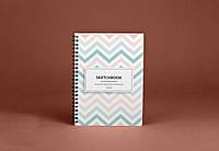 Sketchbook Scandinavian Скетчбук Скандинавия белые листы на пружине 80г, фото 1