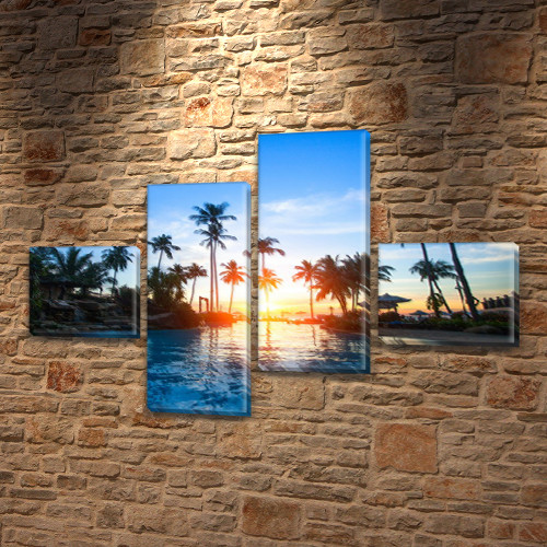 Картины для спальни на холсте фото, на Холсте син., 60x85 см, (18x20-2/50х18-2)