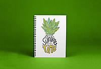 Sketchbook Summer Pineapple Скетчбук Летний Ананас белые листы на пружине 80г, фото 1