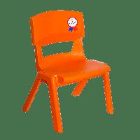 Стілець дитячий Irak Plastik Jumbo №1 помаранчевий