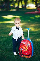 Чемоданы детские 2 колеса овальные и фигурные обьем 16-20 литров