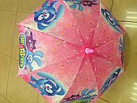 Зонты детские фиксики + смешарики, на 2-5 лет со свистком