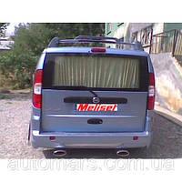 Накладка на задний бампер (под покраску) Fiat Doblo
