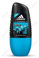 Кульковий дезодорант антиперспірант Adidas Ice Dive 50мл.