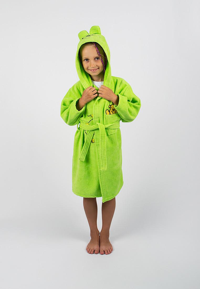 Халат детский Винни Пух 3-4 лет зеленый Lotus