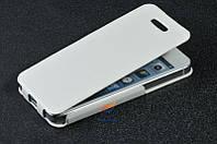 Кожаный чехол 5 iphone белый цвет