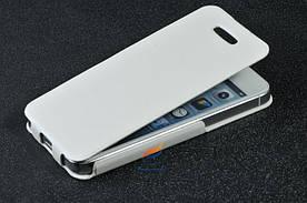 Шкіряний чохол iphone 5 білий колір