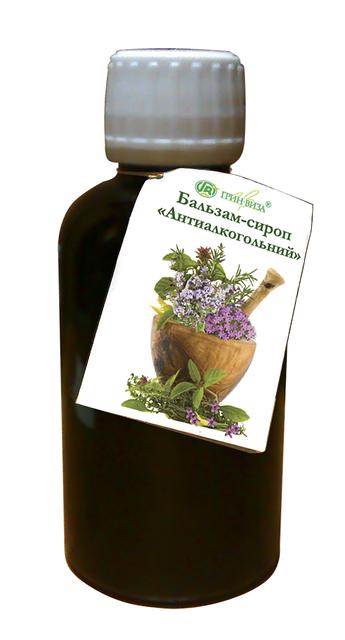 Сироп-бальзам Антиалкогольный- 200 мл Грин Виза