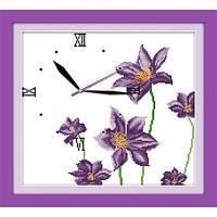 """Вышивка крестиком """"Часы. Цветочный аромат"""" 38*35  см."""