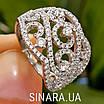 Роскошное серебряное кольцо с цирконием , фото 10