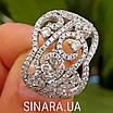 Роскошное серебряное кольцо с цирконием , фото 9