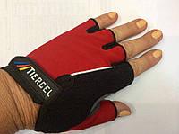 Перчатки женские для фитнеса (вело)  размер  М, L красный