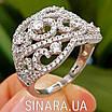 Роскошное серебряное кольцо с цирконием , фото 8
