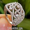 Роскошное серебряное кольцо с цирконием , фото 7