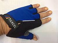 Перчатки женские для фитнеса (вело)  размер S, М, L синий