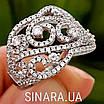 Роскошное серебряное кольцо с цирконием , фото 5