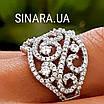 Роскошное серебряное кольцо с цирконием , фото 4
