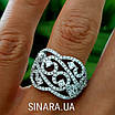 Роскошное серебряное кольцо с цирконием , фото 2
