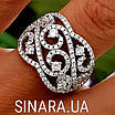Роскошное серебряное кольцо с цирконием , фото 3
