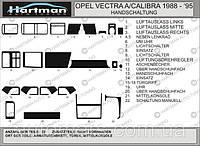 Накладки на панель Opel Vectra A (1987-1995)