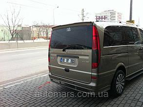 Накладка на задній бампер (під фарбування) Mercedes Vito W639