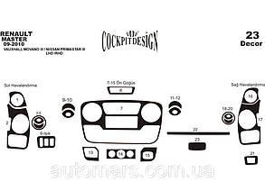 Накладки на панель Renault Master (2011+) Малый комплект