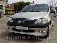 Передний бампер (накладка, под покраску) Dacia Logan