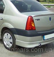 Задний бампер (накладка, под покраску) Dacia Logan