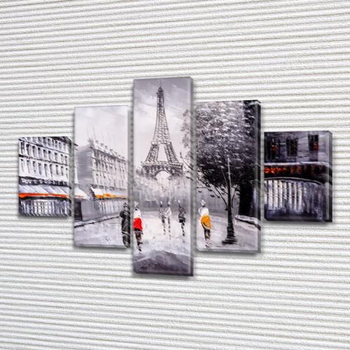 Картины купить модульные на Холсте син., 65x100 см, (25x18-2/45х18-2/80x18)