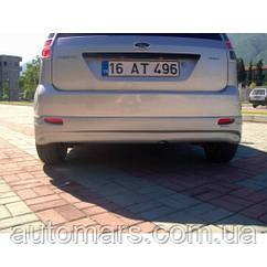 Задний бампер (накладка, под покраску) Ford Fiesta