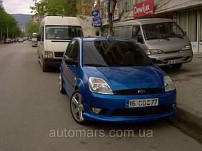 Передний бампер (накладка, под покраску) Ford Fiesta