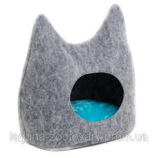 """Дом-лежак """"ДРИМ"""" (44*28*45см) для кошек"""
