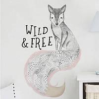 Наклейка виниловая Лиса Wild and Free