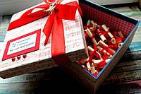 Коробка 100 причин любви (размер 18х18*10см +- 3/4см), фото 1