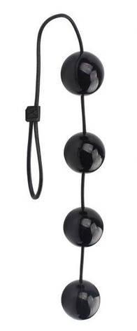 Анальные шарики Rubicon Medium, черные, фото 2